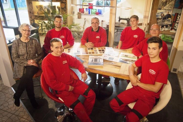 Das Peukert Team in der Ausstellung in Dornstetten
